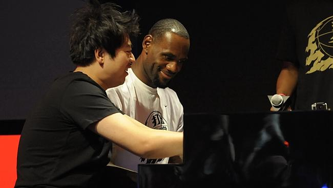 LEBRON JAMES BEGINS TOUR OF CHINA
