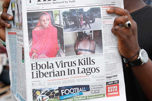 NIGERIA DEATH SHOWS EBOLA CAN SPREAD BY AIR TRAVEL