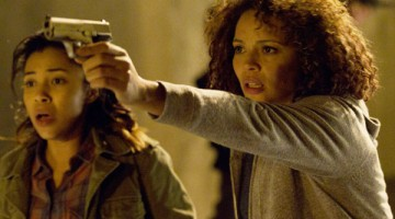 DANGEROUS SITUATION: Cali (Zoe Soul) and her mother Eva (Carmen Ejogo) try to fend off a group of purgers. / PHOTO COUTESY OF blumhouse.com