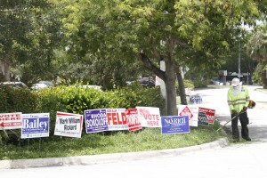SIGNS: Today, Aug. 26, is primary election day.